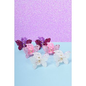 Deadstock Glitter Butterfly Hair Clips