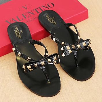 Valentino Woman Men Fashion Slipper Flats Shoes