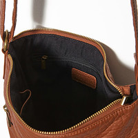 Crinkled Faux Leather Crossbody