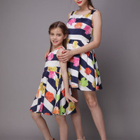 Mommy and Me Flowers Summer Dress