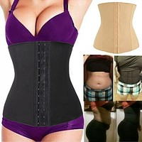 #1 BEST Waist Trainer Slimming Shapewear Training Corsets Cincher Body Shaper Bustier #12