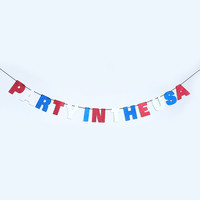 Party In The USA Glitter Banner Wall Hanging - 4th of July - Sparkly Red White & Blue - Party Decoration - More colors available
