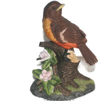 Vintage Brown Bird Figurine,Collectible Home decor