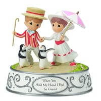 """Precious Moments, Disney Showcase Collection, """"When You Hold My Hand I Feel So Grand"""" Resin Music Box, #154106"""