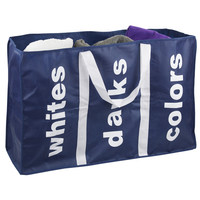 Sunbeam Laundry Three-Compartment Tote Bag   Overstock.com Shopping - The Best Deals on Hampers