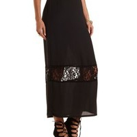 Lace Cut-Out Maxi Skirt by Charlotte Russe