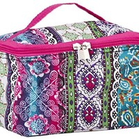 World Traveler Pink Boho Patchwork Cosmetic Makeup Case