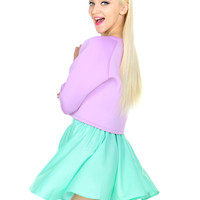 SO MINTY SKATER SKIRT