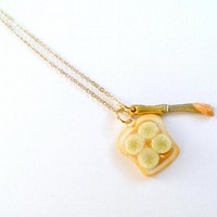 Peanut Butter & Banana Necklace, Cute :D by aLilBitOfCute on Zibbet