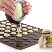 New Silicone Macaron Macaroon Pastry Oven Baking Mould Sheet Mat 30-cavity DIY Mold Baking Mat  Hot Sale