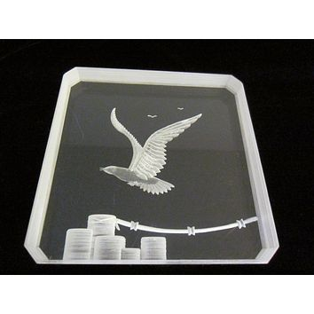 Acrylic Plaque Flying Eagle Post Modern Paperweight