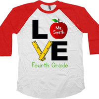 4th Grade Shirt Teacher Gift Teacher Appreciation Fourth Grade Teacher Shirt Teacher Life End Of Year Gift Last Day Raglan Tee - SA977