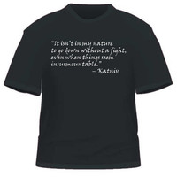 Hunger Games Inspired Katniss Quote Tshirt by PegastianPress