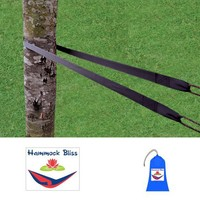 Hammock Bliss XL Extra Long Tree Straps - Hang Any Hammock With Ease - Stronger & More Durable For 2016 - Quality You Can Trust