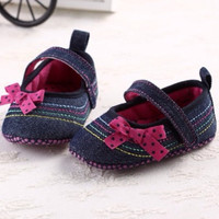Sweet Dot Butterfly Bow Antiskid Toddlers Kids Shoes