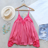 The Linden Layering Tank in Coral