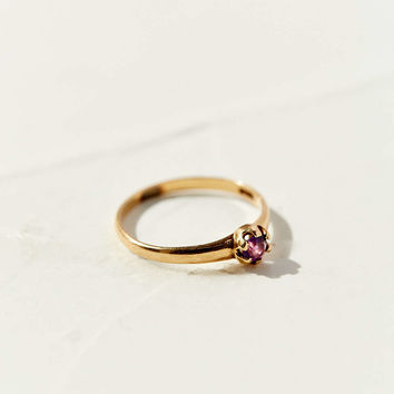 Diament Jewelry Vintage 10K Gold Victorian Amethyst Ring - Urban Outfitters