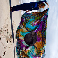 Triple Goddess Tapestry - Tie Dye