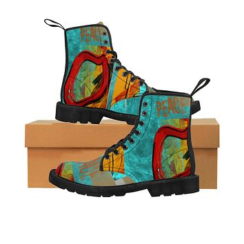 Peace Women's Canvas  Boots