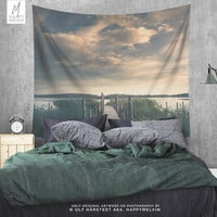 Lake Scenery Wall Tapestry | Sunset Tapestry  | Lake Wall Tapestries | Nature Wall Tapestry | Boho Decor | Lake Wall Decor | Dorm | Gifts