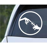 E.T. and Elliot Funny Die Cut Vinyl Decal Sticker