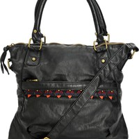 T-Shirt & Jeans Kali Embroidered Black Crossbody Purse