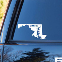 Maryland Home Decal | Maryland State Decal | Homestate Decals | Love Sticker | Love Decal  | Car Decal | Car Stickers | Bumper | 060