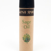 SAGE OIL - Native Spirit Herbal Remedy Oil for Cleansing & Purification