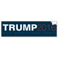 Donald Trump for President 2016 Car Bumper Sticker