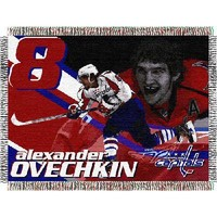 """Alexander Ovechkin #8 Washington Capitals NHL Woven Tapestry Throw (48""""x60"""")"""