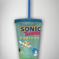 Sonic the Hedgehog Game Cup with Straw