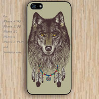 iPhone 5s 6 case watercolor dream catcher wolf colorful phone case iphone case,ipod case,samsung galaxy case available plastic rubber case waterproof B542