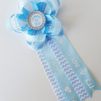 It's A Boy Mommy to Be Corsage, Daddy to be Corsage, Baby Shower Corsage, Baby Shower Pin, Aunt to Be, Grandma to Be, Baby Boy Shower Decor
