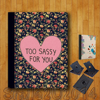 iPad Air case,too sassy,iPad Air Leather Case,can stand up and rotate freely,iPad Air leather Cover,custom image accept,full protection