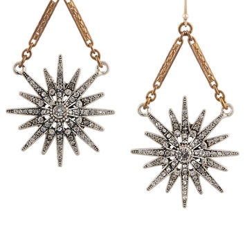 Lulu Frost - Radiant gold-plated crystal earrings