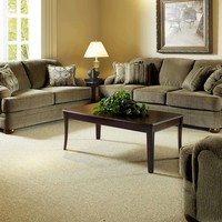 Serta 5500 Heavenly Suede Coil Spring Sofa and Loveseat