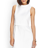 LOVE 21 Classic Tiered Dress White Large
