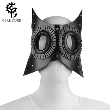 Adult Black PU Leather Vintage Masquerade Party Gothic Mask Steampunk (10 Styles)