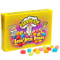 WarHeads Sour Jelly Beans 4-Ounce Theater Boxes: 12-Piece Case