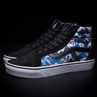 Vans Sk8-Hi Print Canvas Flat High-Top Sneakers Sport Shoes