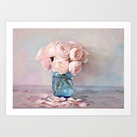 English Roses Art Print by sylviacookphotography