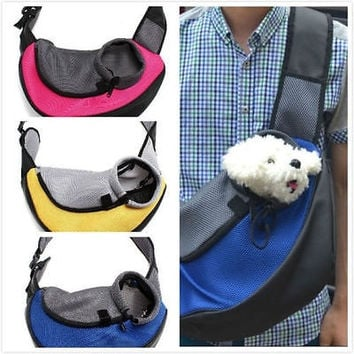 Pet Dog Cat Puppy Carrier Mesh Comfort Travel Outdoor Tote Shoulder Bag Sling Backpack = 1929568132
