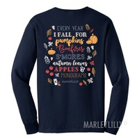Monogrammed Fall T-Shirt | Marleylilly