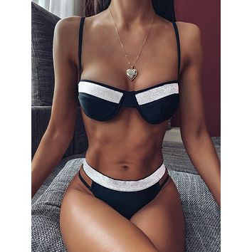 Underwire High Cut Bikini Swimsuit
