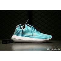 Nike Roshe Two Flyknit V2 Fashion Women Men Casual Running Sport Sneakers Shoes Lake blue I-HAOXIE-ADXJ
