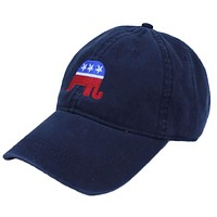 Republican Twill Hat in Navy by Full Time American