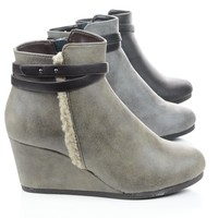 Gummy Wedge Zip Up Ankle Bootie