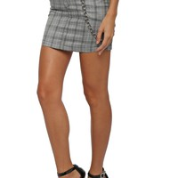 Brooklyn Karma Whatever Plaid Chain Skirt