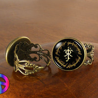 Lord of the Rings (2) Adjustable Ring Rings Vintage Antique Fashion Jewelry Gift
