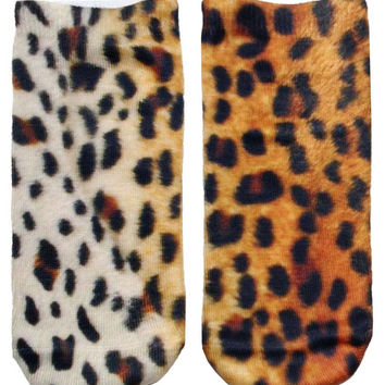 Cheetah Print Ankle Socks